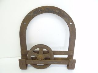 Antique Old Barn Door Rolling Hardware Slide Mechanism Part Cast Iron Tool photo