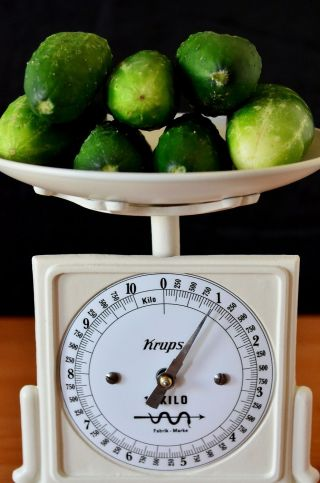 Old Style,  Antique,  Shabby Chic,  Vintage,  Old German Kitchen Scale - Krups photo