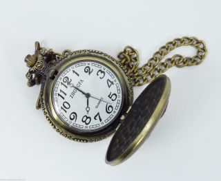 Handmade Yacht Designed Brass Golden Pocket Watch photo