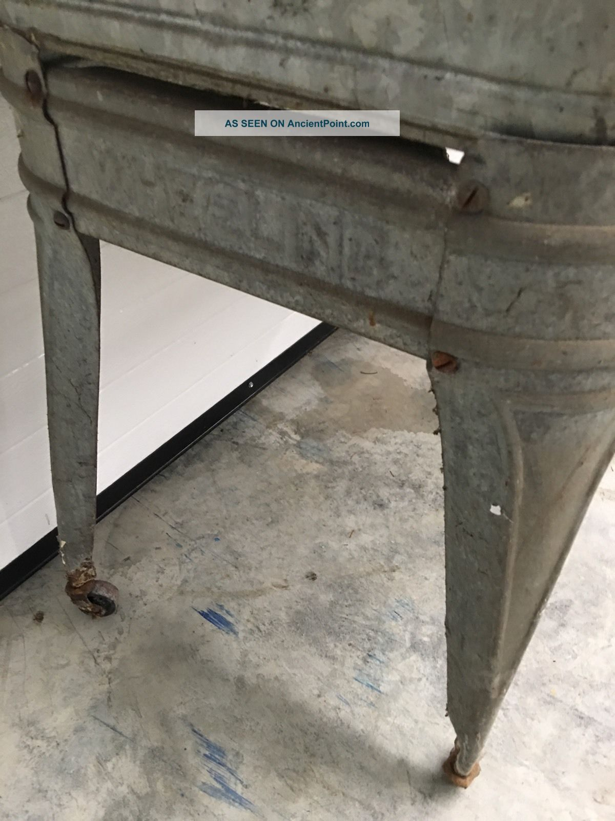 Double Wash Tub With Stand : Vintage Wheeling Double Basin Wash Tub Stand Metal Galvanized Rustic W ...