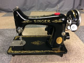 Serviced Perfectly Vintage 1928 Singer 99 Heavy Duty 3/4 Sewing Machine photo