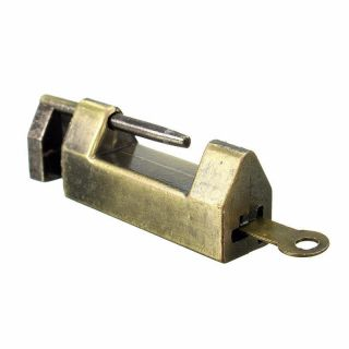 Archaize Chinese Retro Brass Padlock Wedding Jewelry Box Padlock Lock With Key photo