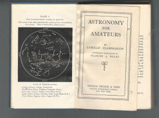 1903 Astronomy For Amateurs,  Camille Flammarioin.  Translated From French.  Illus. photo