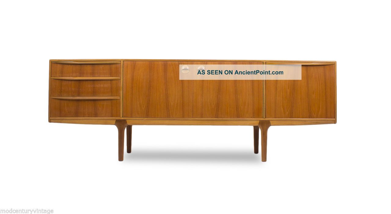 Mid Century Modern Mcintosh Teak Credenza Sideboard Or Media Mcm.  Vintage.  Media. Post-1950 photo