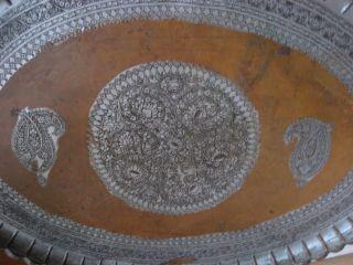 Antique Persian Copper Tray photo