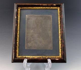 Hand Engraved Steel Printing Plate Madonna & Child Framed photo