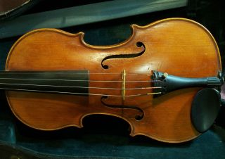 Old Violin Labeled Marengo Romanus Rinaldi 1917 photo