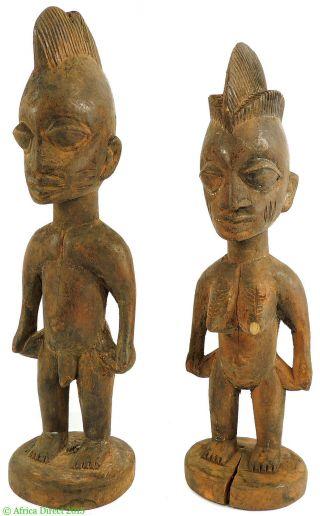 Yoruba Ibeji Twins Pair Nigeria African Art photo