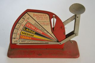 Vintage Jiffy Way Egg Grading Scale By Brower Mfg.  Co.  Quincy Ill.  U.  S.  A. photo