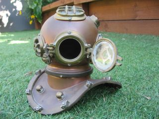 Vintage Mini Replica Deep Sea Divers Helmet Nautical Maritime Collector Antique photo