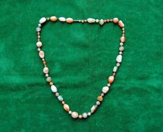 Rare Ottoman Islamic Dervish Agate Haqeeq Bead Strands Indo Persian No Jade photo