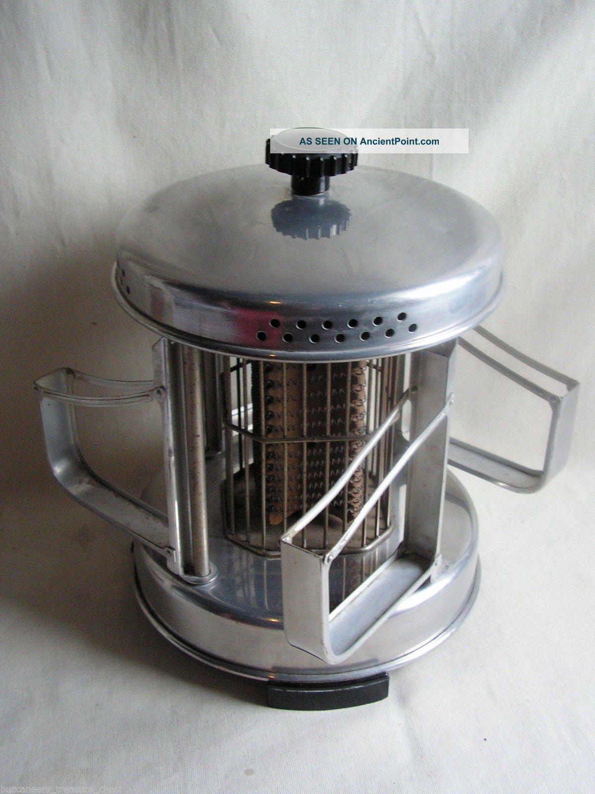 1930 Art Deco Aluminum Carousel Toaster Bakelite Machine Age Industrial Design Toasters photo