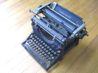 Antique Underwood No.  5 Standard Typewriter C.  1923 photo