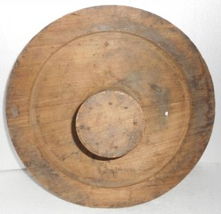 India Vintage Wood/wooden Wheel Mold/mould For Foundry 80,  Years Old Military? photo
