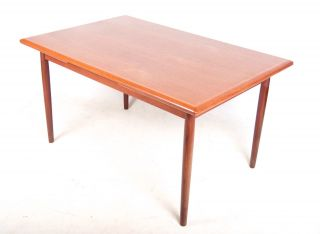 Retro Danish Dining Table Large Extending Teak Mcm Vintage 1960s 70s photo