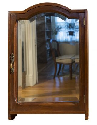 Antique Medicine Cabinet With Beveled Mirror - On - Was $195 Now $165.  75 photo