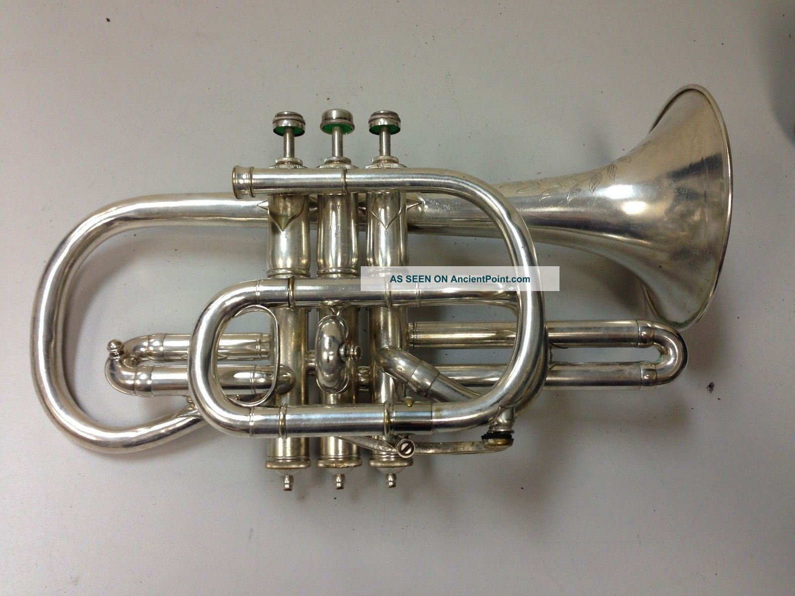 Lyon & Healy Own Make Cornet C.  1901 Brass photo