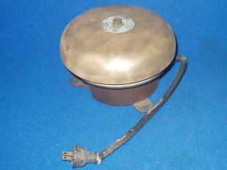 Old Electric Brass Bell Navy Department Bureau Of Ships Edwards Company 115 V. photo
