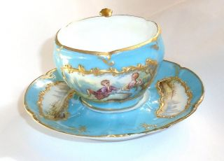 Antique Sevres Demitasse Cup And Saucer photo