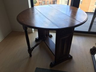 Antique Folding Wooden Card Table photo