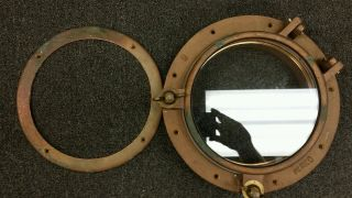 Antique Bronze Perko 8 Bronze Porthole.  In photo