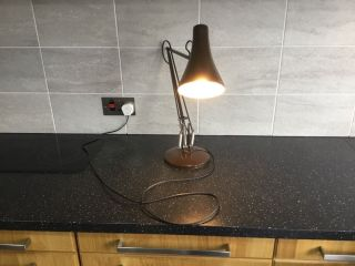 Anglepoise Light Vintage Early Herbert Terry Model 90 Lamp Brown photo