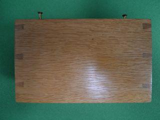 Wooden Box Vintage Physics Electronics Lab Apparatus Oak Pen Holder Component photo