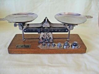Kodak Studio Scale Made By Eastman Kodak Co W/weights Antique Vintage Complete photo