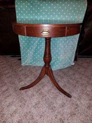 Vintage Mersman 7685 Round Mahogany 3 Foot Hallway Side Table photo