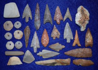 28,  Diverse Sahara Neolithic Relics,  And 1 Paleo Aterian Stemmed Tool photo