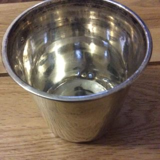 Antique French Sterling Silver Minerva Beaker / Cup.  7.  3cm High.  52.  3g photo
