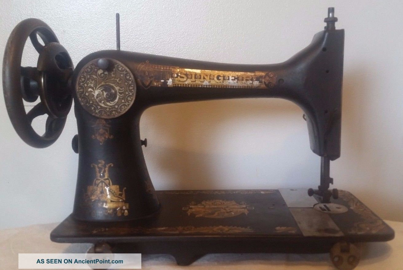 Antique Singer Treadle Sewing Machine Model 27