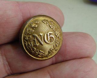 1860 Civil War Pennsylvania National Guard 24mm Gilt Button Horstmann Allien,  Ny photo