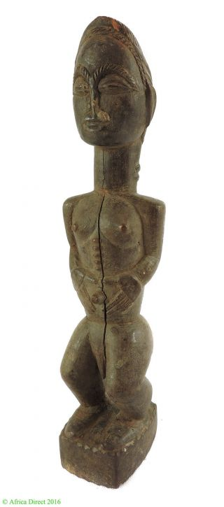 Baule Male Figure Cote D ' Ivoire African Art Was $49 photo