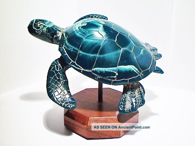 Green Sea Turtle Fine Art Sculpture By Cook Company Scrimshaws photo