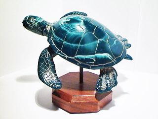 Green Sea Turtle Fine Art Sculpture By Cook Company photo