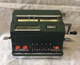 Antique Swedish Facit Mechanical Calculator - photo