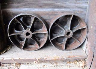 Pr Antique Cast Iron 7