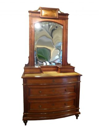 Italian Fantastic Art Nouveau Hand Painted Dresser - - photo