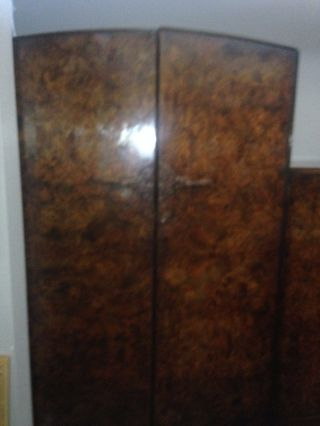 Burl Walnut English Wardrobe photo
