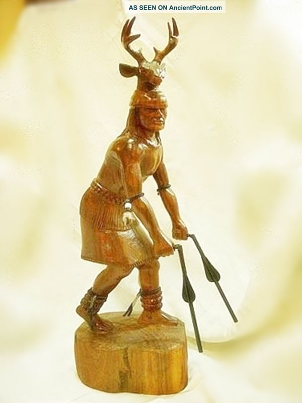 Yaqui Deer Dancer Carved Ironwood Native American photo