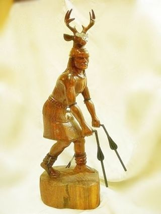Yaqui Deer Dancer Carved Ironwood photo