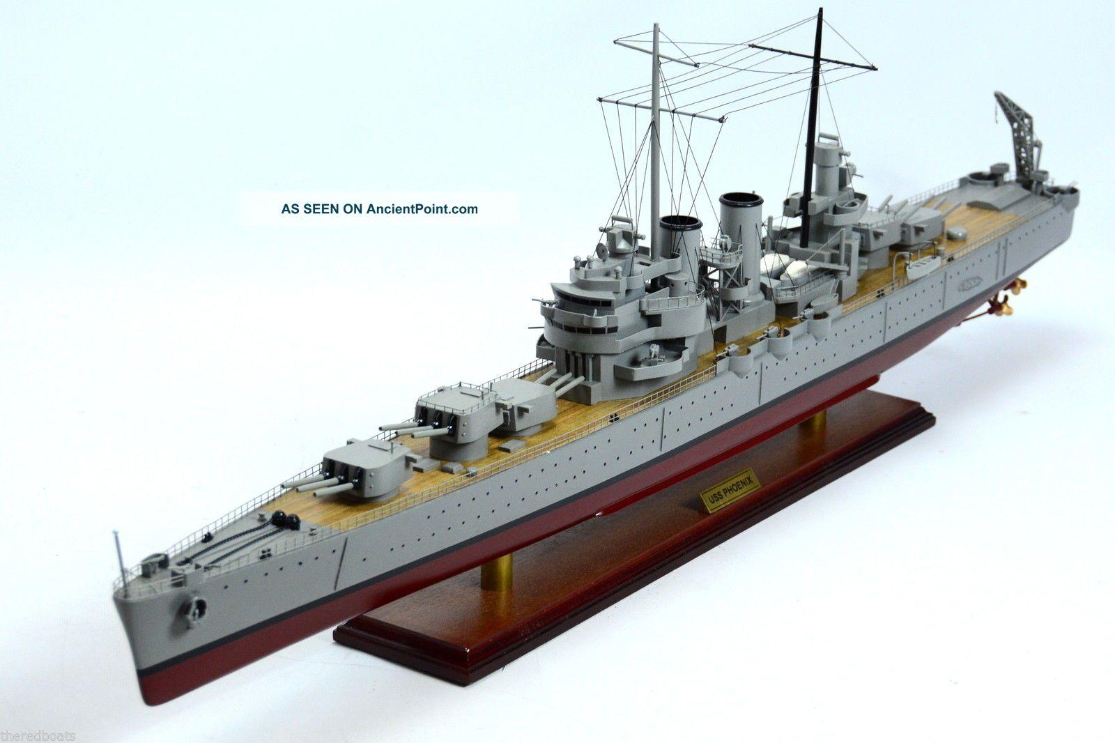 Uss Phoenix Cl - 46 Brooklyn - Class Cruiser Wooden Warship Model See more USS Phoenix Cl- 46 Brooklyn-class Cruiser Wood... photo