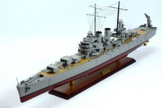 Uss Phoenix Cl - 46 Brooklyn - Class Cruiser Wooden Warship Model photo