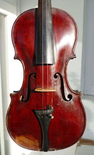 Old Violin For Restoration - Attic Found,  Caspar Strnad Label. photo