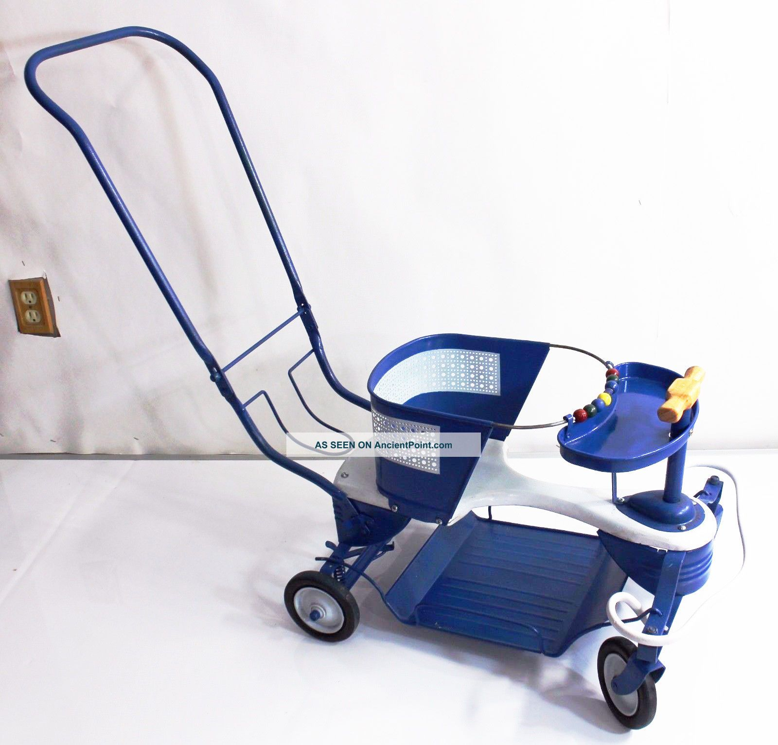 Vintage Antique Taylor Tot Baby Stroller Walker Blue Metal Baby Carriage Baby Carriages & Buggies photo