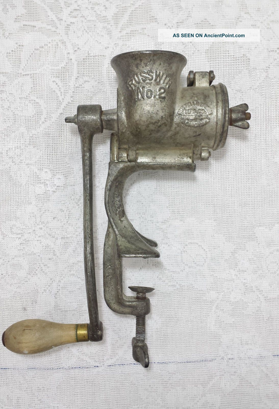 Antique C.  1901 Russwin No.  2 Hand Crank Food Meat Grinder Chopper Made In Usa Meat Grinders photo