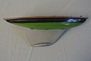 Vtg 1930 ' S Ailsa Yacht Milbro Product Pond Boat Made In Scotland 18 5/8