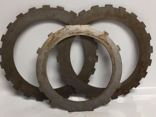 Three Qty Gear Industrial Steampunk Repurpose Steel Sprocket Vintage Pulley Rust photo