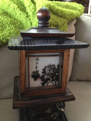 Vintage Asian Pagoda Chinoiserie Lantern Ceiling Lighting Mid - Century photo